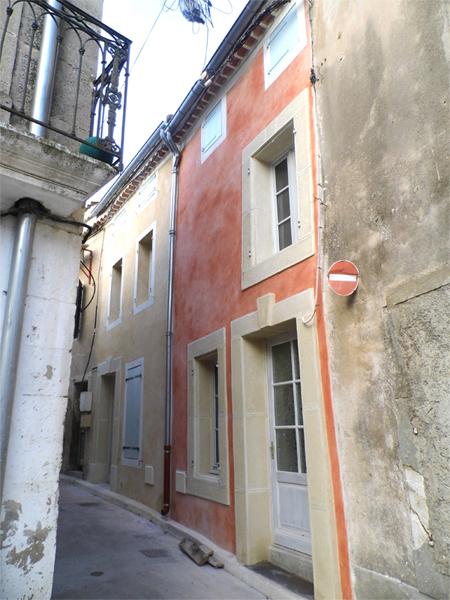 Façade à la chaux hydraulique dans l'Aude